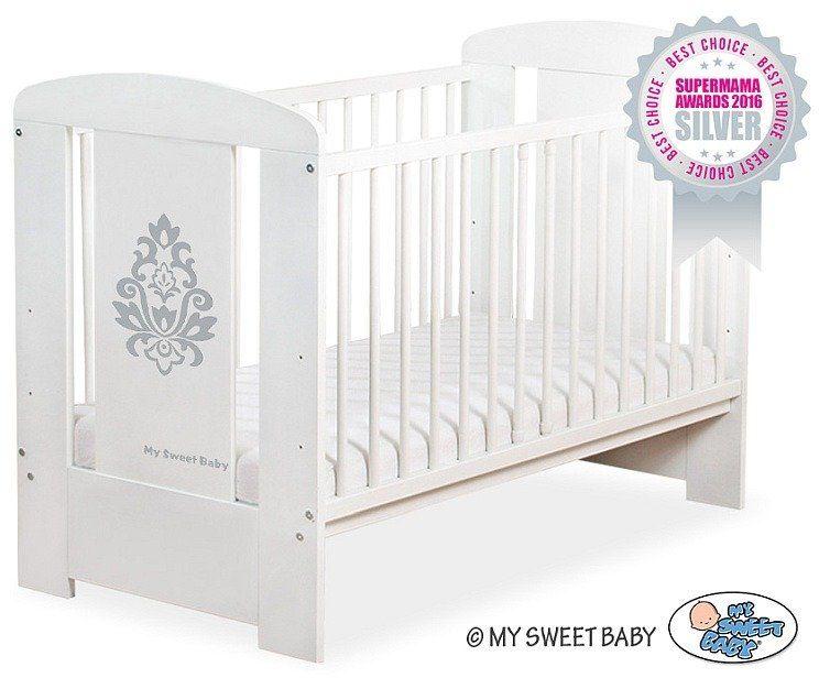 Łóżeczko drewniane Glamour szary, 5015071-My Sweet Baby