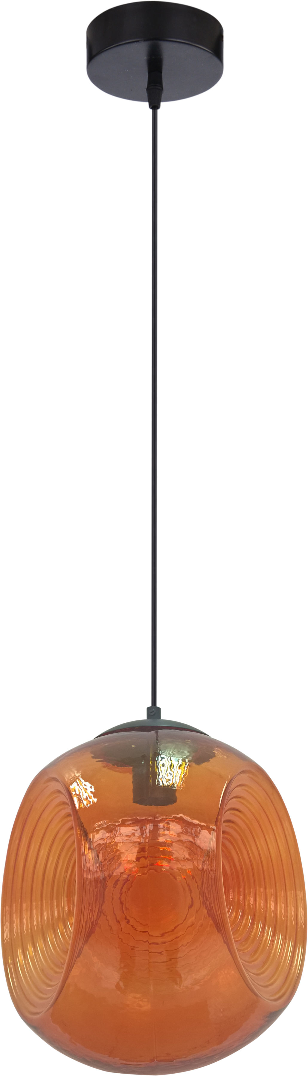 Candellux CLUB 31-51233 lampa wisząca klosz szklany pomarańczowy 1X60W E27 28 cm