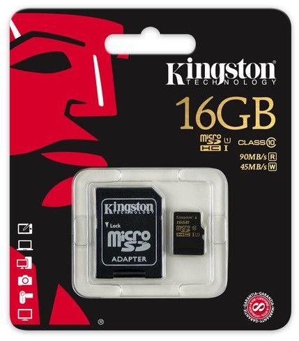 Karta Kingston Micro SD SDHC 16GB Class10 UHS-I