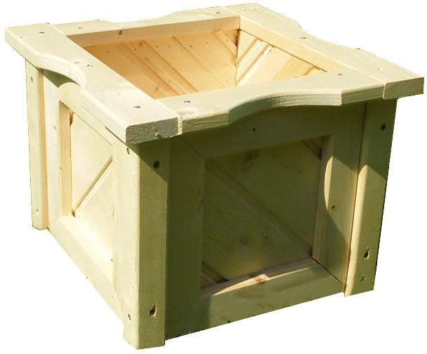 Drewniana kwadratowa donica ogrodowa 15 kolorów - Nevis