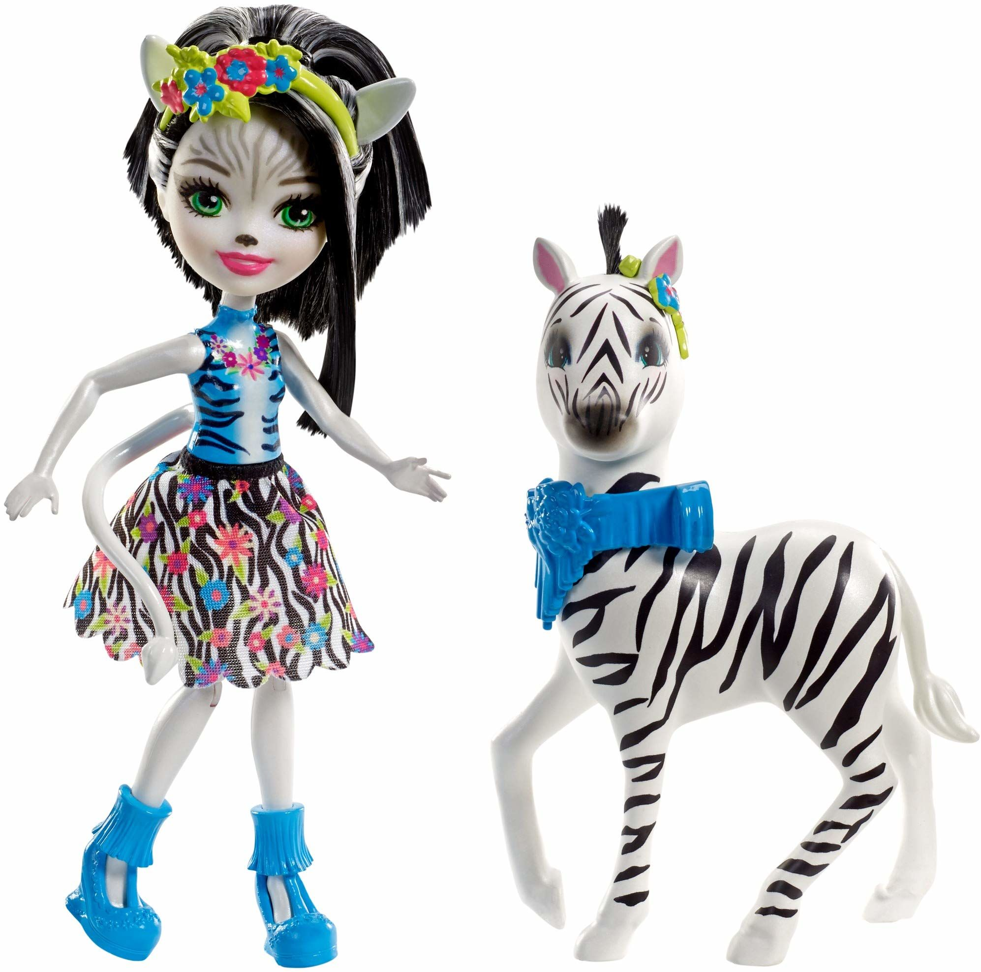 Mattel Enchantimals FKY75 zestaw tematów Zelena Zebra, gra