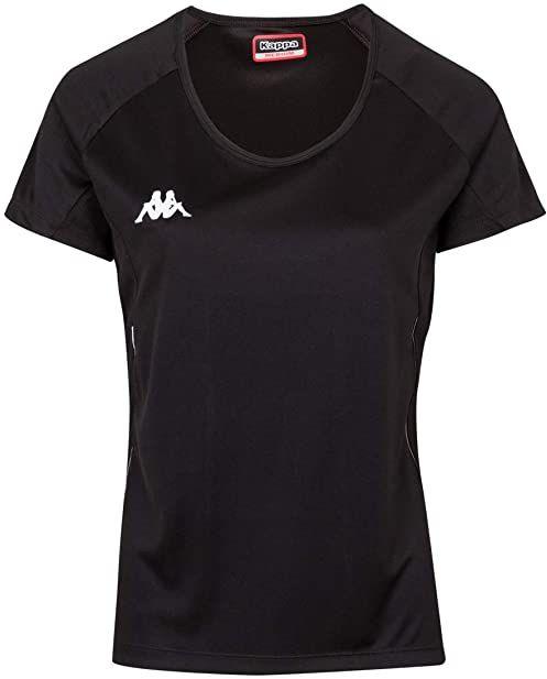 Kappa Damski T-shirt Fania Techniczny, czarny, 6Y