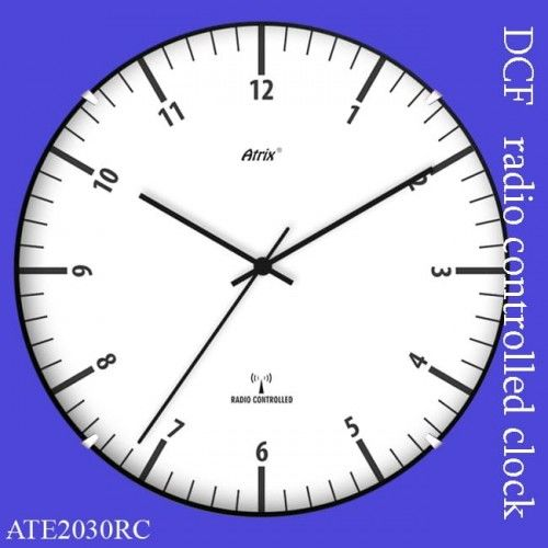 Zegar ścienny sterowany radiowo convex