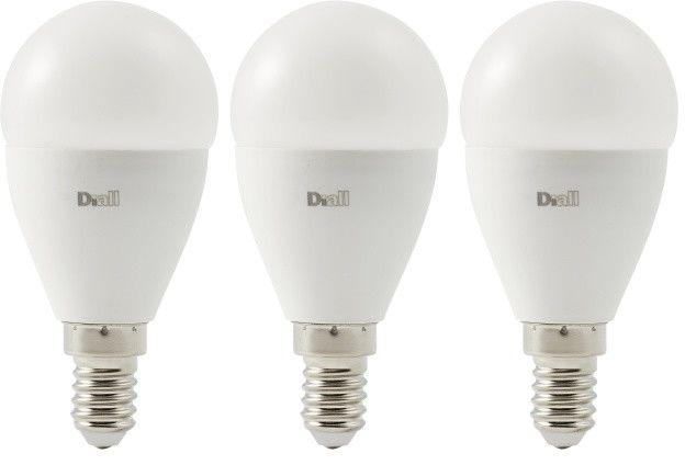 Żarówka LED Diall P45 E14 8,5 W 806 lm mleczna barwa ciepła 3 szt.