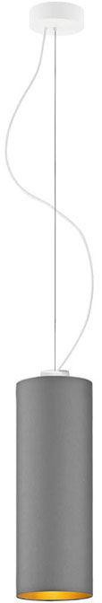 Lampa wisząca tuba glamour na białym stelażu - EX836-Boloniv - 5 kolorów