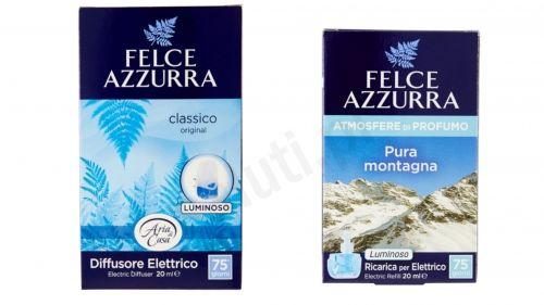 Zestaw Felce Azzurra Classico, Górska Świeżość - elektryczny odświeżacz powietrza + uzupełnienie
