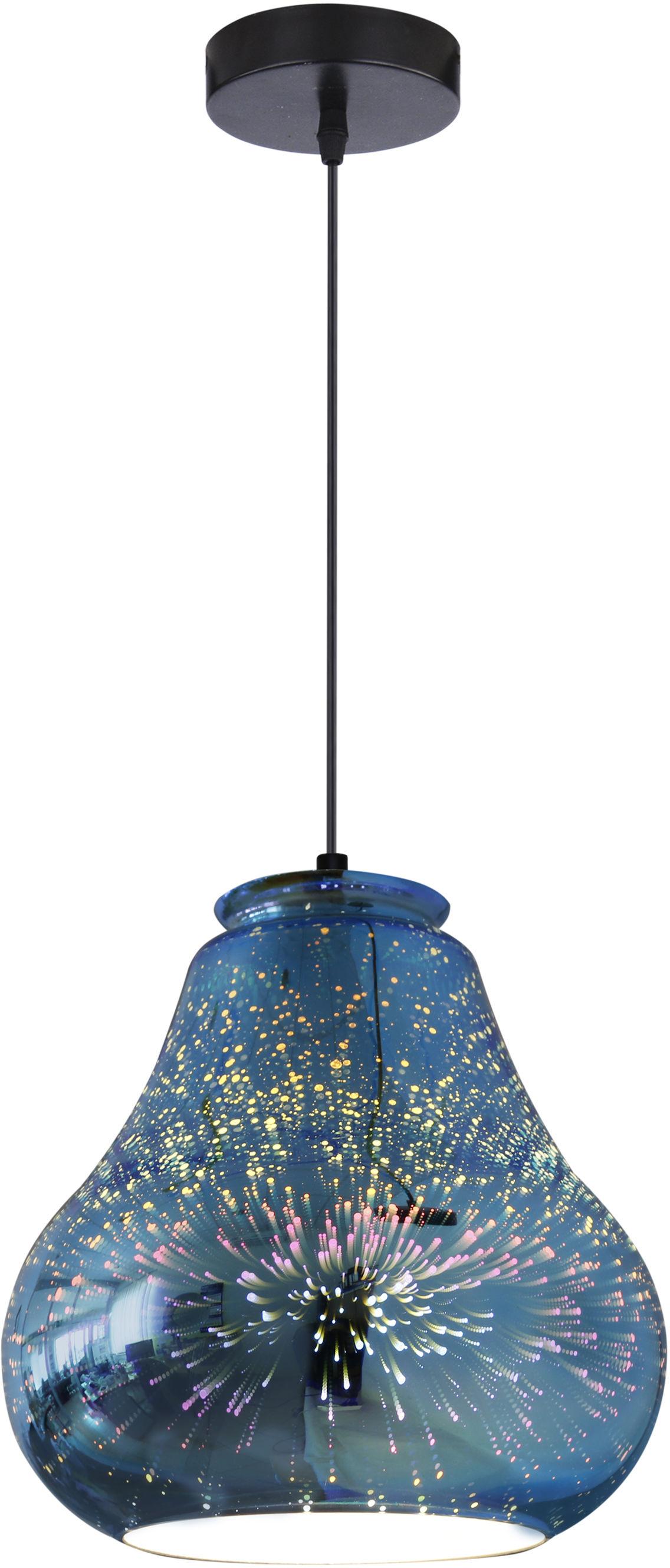 Candellux GALACTIC 4 31-56108 lampa wisząca klosz powlekany warstwą dekoracyjną 1X60W E27 3D 19 cm