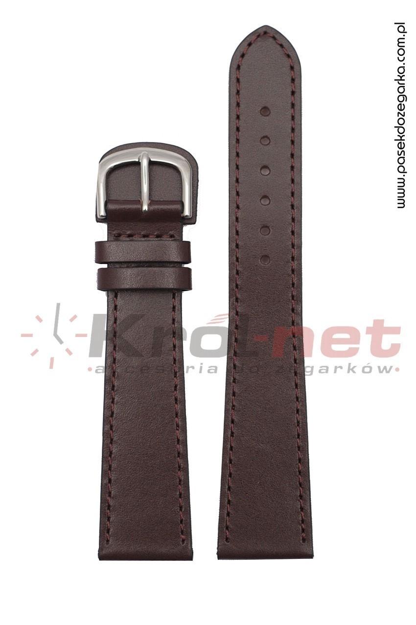 Pasek do zegarka BZ001BR/20, dla alergików - brązowy, gładki