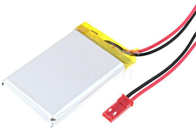 Akumulator Li-Po 3,7V 980mAh z przewodami 5,7x34x50mm