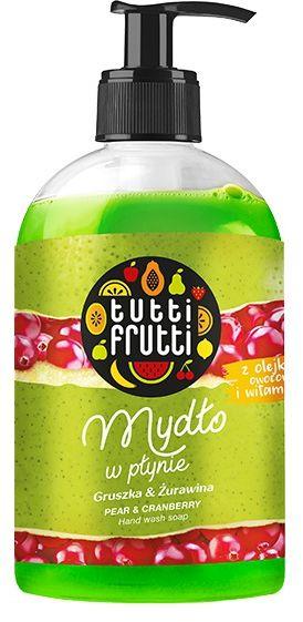TUTTI FRUTTI Gruszka i Żurawina Mydło w płynie z olejkami owocowymi i witaminą F 500ml