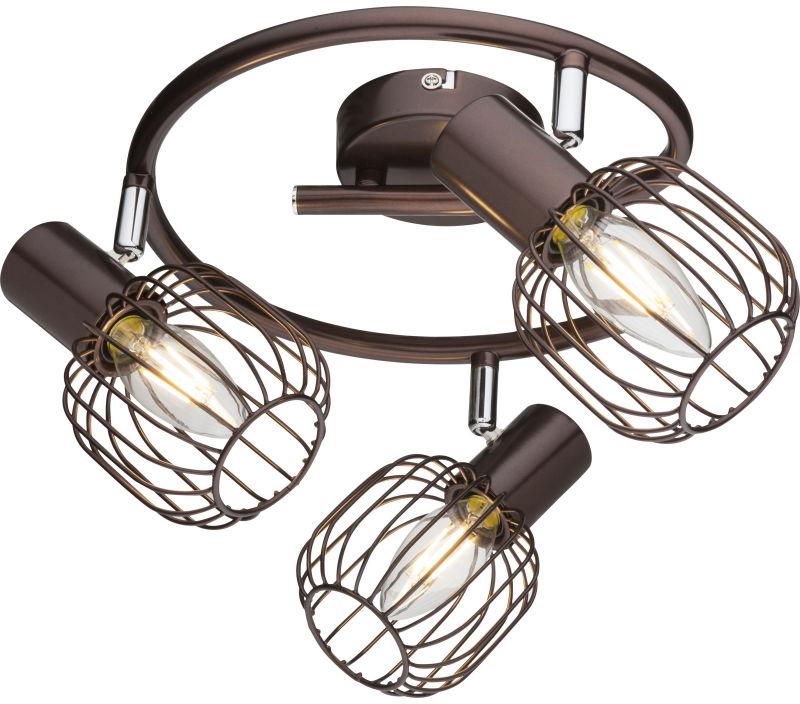 Globo AKIN 54801-3 plafon lampa sufitowa brąz antyczny 3xE14 40W 25cm