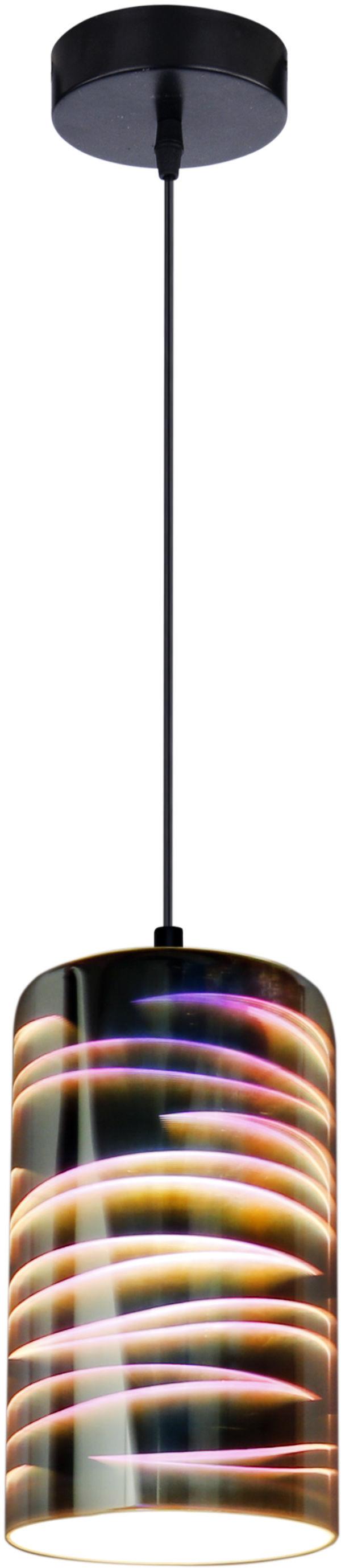 Candellux GALACTIC 3 31-56115 lampa wisząca klosz powlekany warstwą dekoracyjną 1X60W E27 3D 12 cm