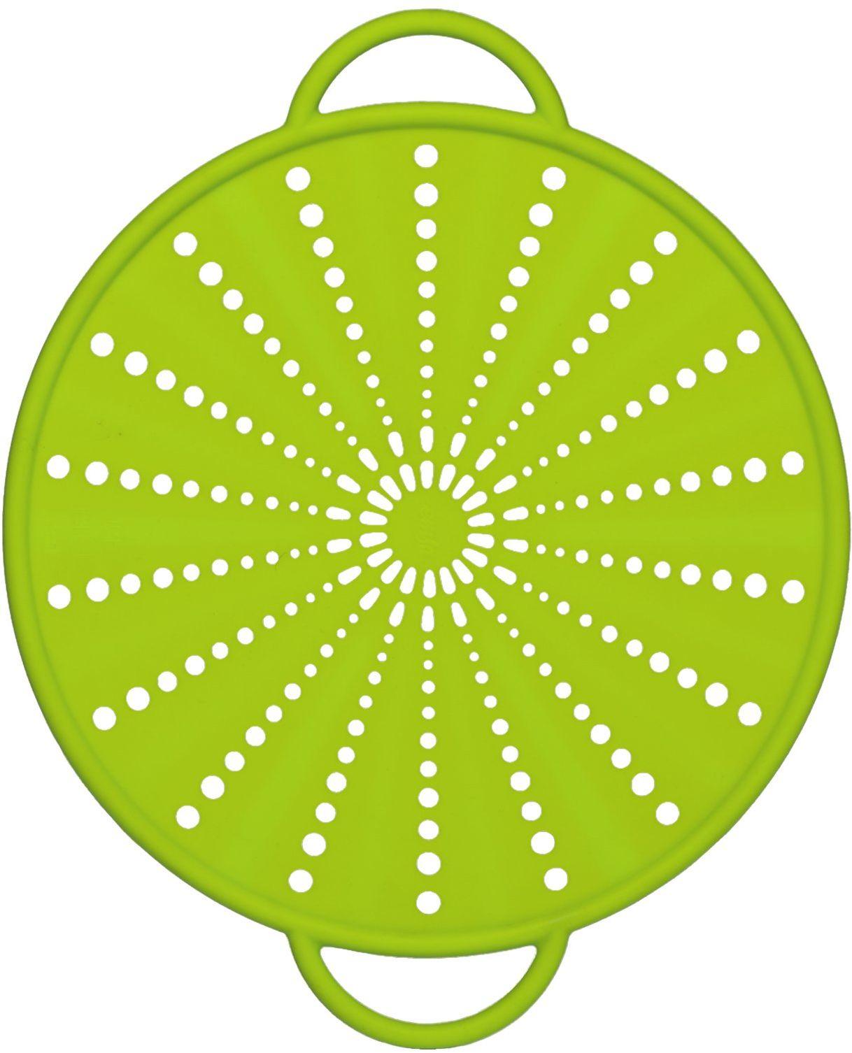 Emsa 514557 ochrona przed pryskaniem, Ø 26 cm, silikonowa, zielona, Smart Kitchen