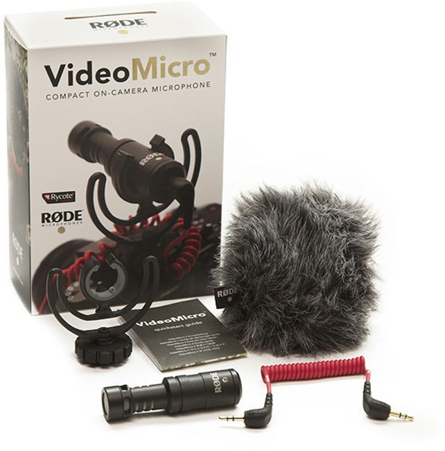 Rode VideoMicro - profesjonalny ultralekki mikrofon do kamer / lustrzanek Profesjonalny ultralekki mikrofon do kamer / lustrzanek