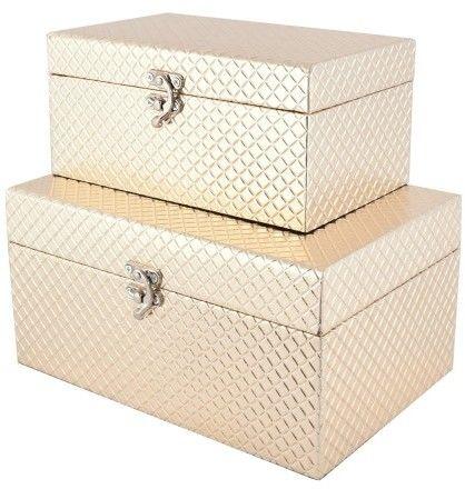 Szkatułka na biżuterię Kasetka ETUI Pudełko KOMPLET 2 szt (1)