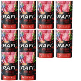 Pakiet Rafi Mokra Karma Dla Psa Wołowina, Borówka, Żurawina 10 x 500 g