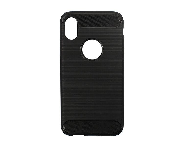 Apple iPhone XS - etui na telefon Forcell Carbon - czarny