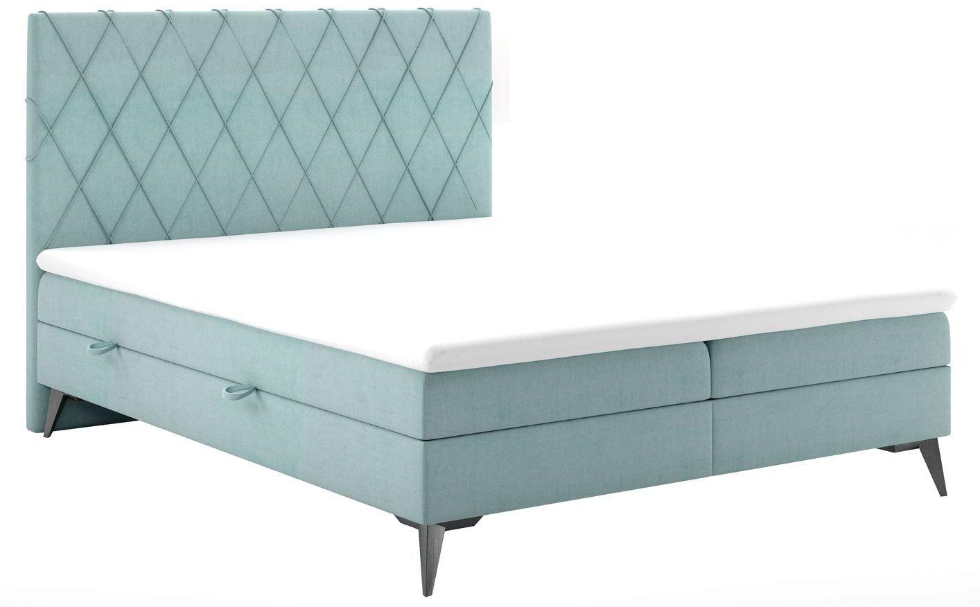 Małżeńskie łóżko kontynentale Tiago 180x200 - 58 kolorów
