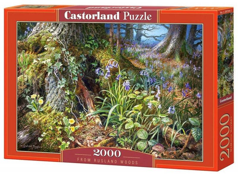 Puzzle Castorland 2000 - Widok z lasu, From Rusland Woods
