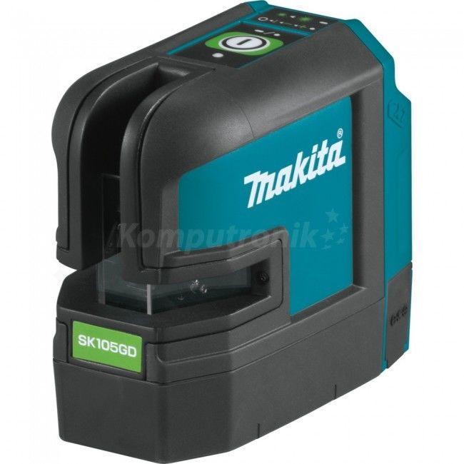 akumulatorowy, samopoziomujący laser krzyżowy zasięg 35m z wiązką zieloną, Li-ion 10,8V, Makita [SK105GDZ]