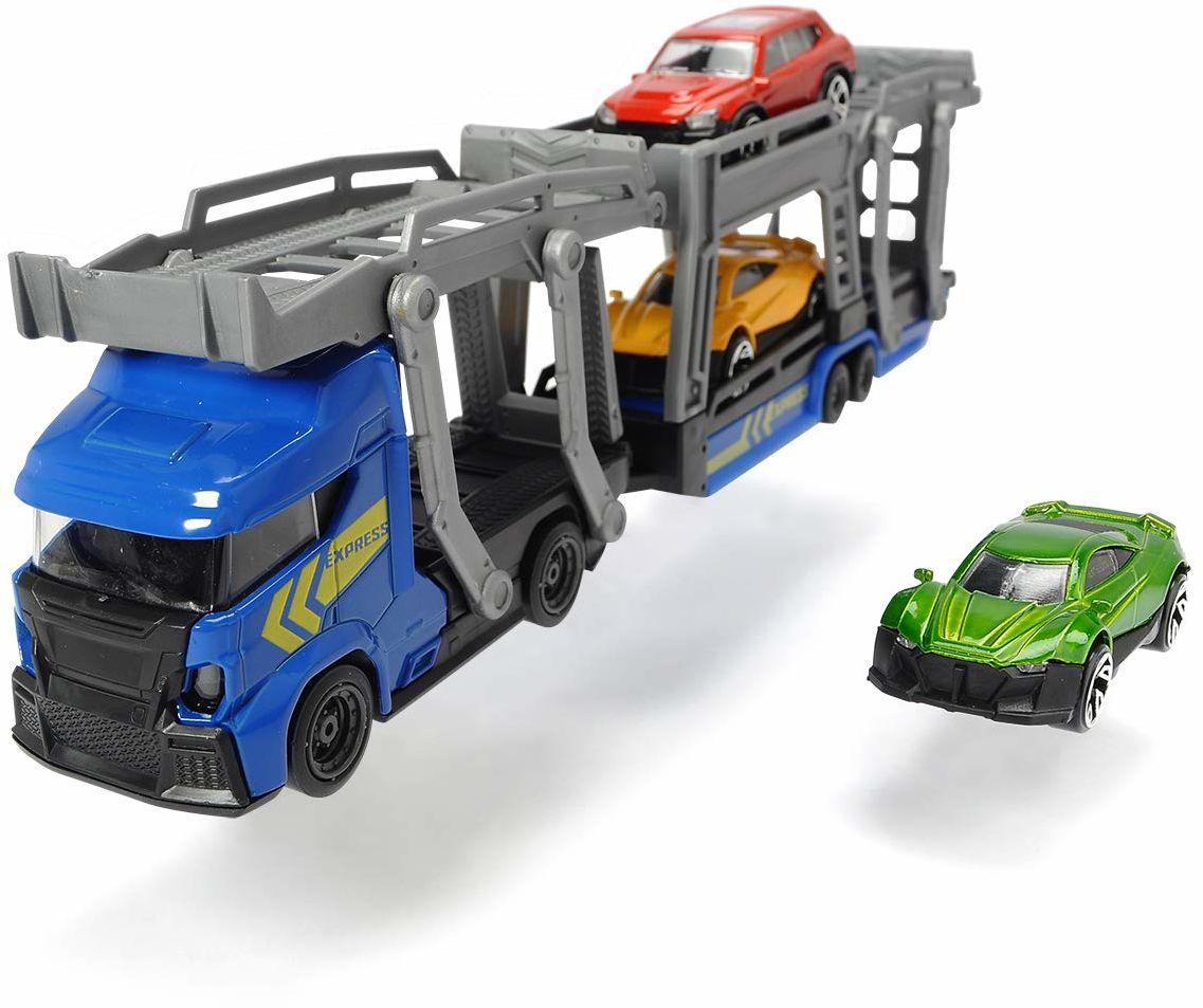 Dickie CITY Laweta z 3 samochodami