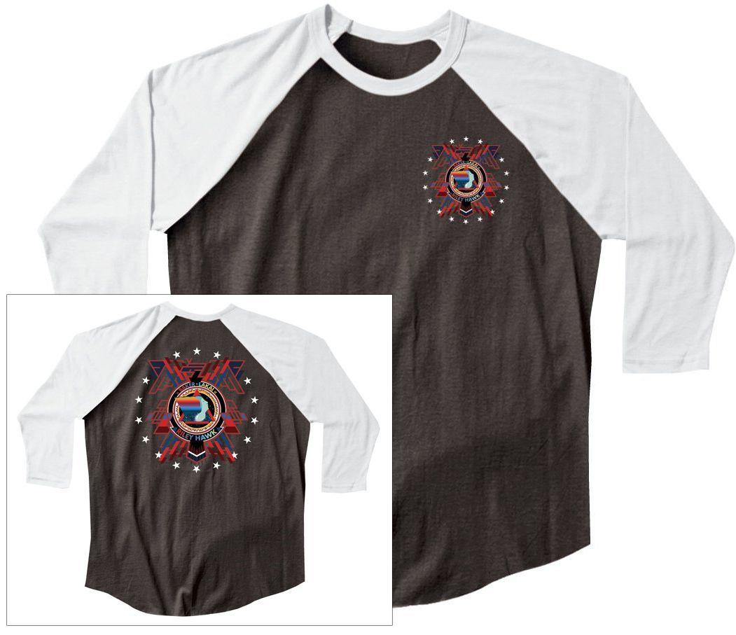 t-shirt męski LAKAI BAKER ARENA RAGLAN TEE Black