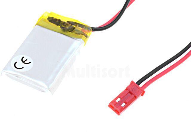 Akumulator Li-Po 3,7V 250mAh z przewodami 5x20x30mm