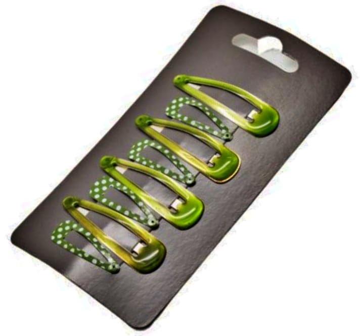 IzA 1311/8/G Komplet zielonych spinek 8 sztuk