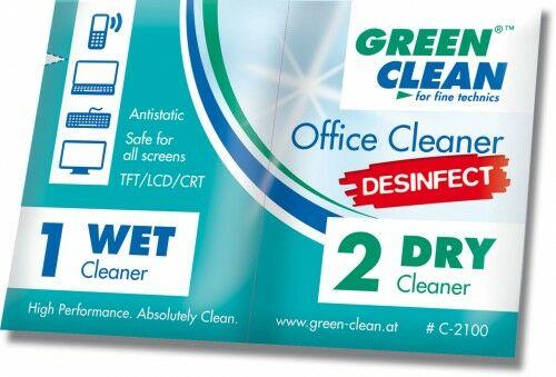 Green Clean GCC-2100-10 Ściereczki Office Cleaner Desinfect 10 kpl.