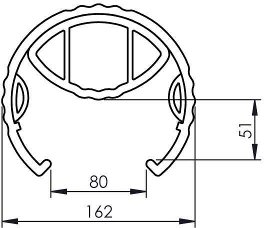 Osłona elastyczna nogi regału - Rack protector XL
