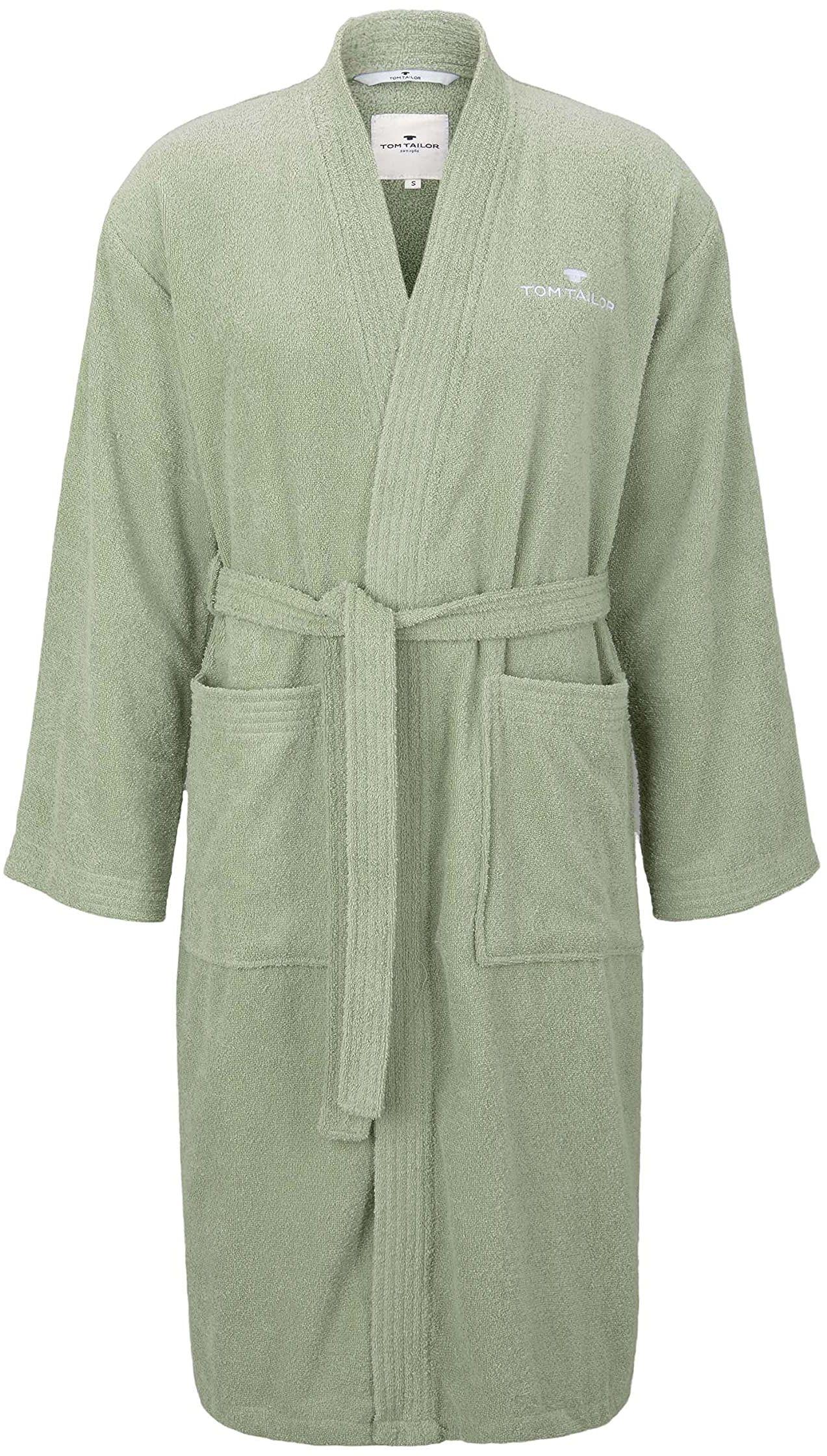 TOM TAILOR 0100300 szlafrok Kimono frotte rozmiar XXL, eucalyptus