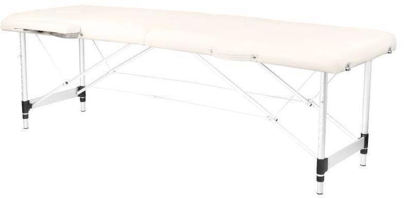 Stół składany do masażu aluminiowy komfort 2 segmentowe cream