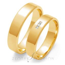 Obrączki ślubne Złoty Skorpion  wzór Au-O101