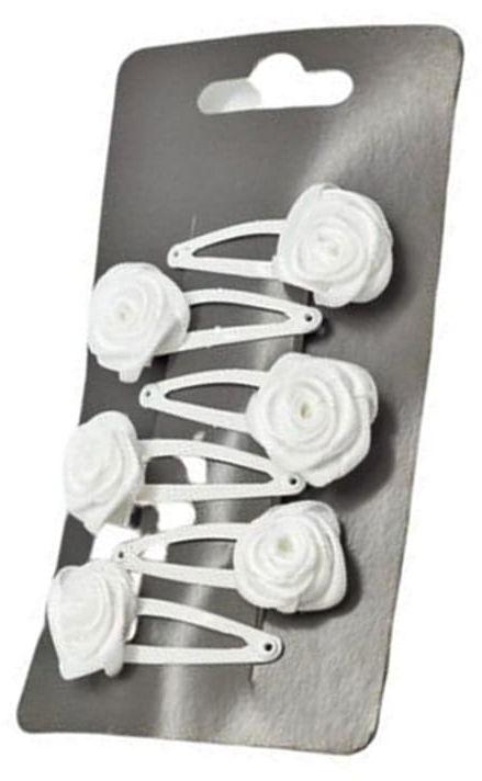 IzA PR40/6 spinki pyk białe róże 6 sztuk