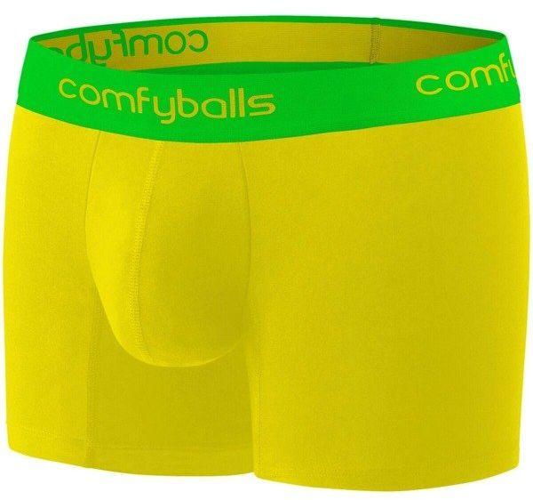 COMFYBALLS bokserki do biegania LONG MICROFIBER żółto-zielone - żółto-zielone