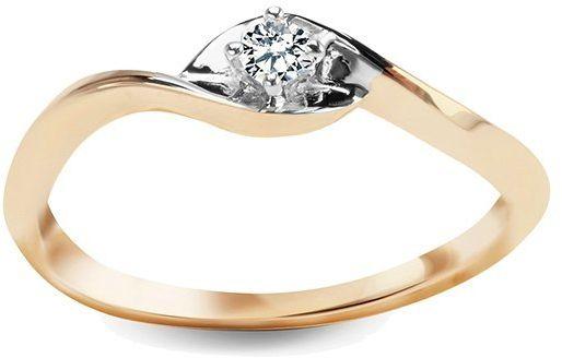 Złoty pierścionek PXD17232 - Diament