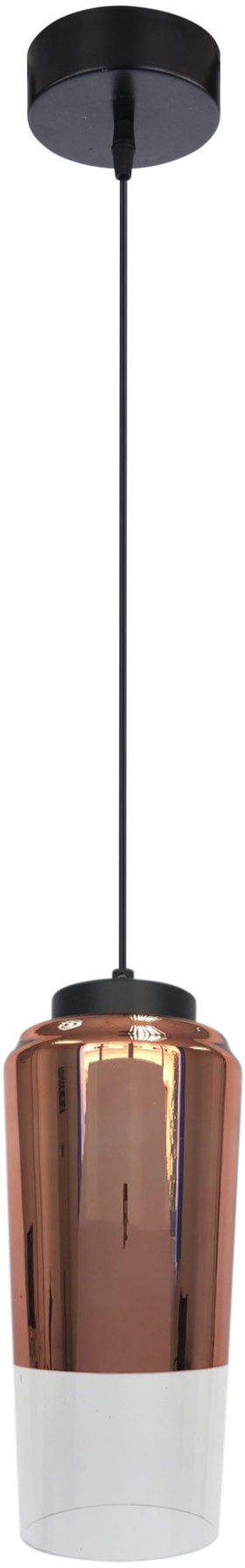Candellux TUBE 31-51271 lampa wisząca dwukolorowy klosz szklany miedziany na zawiesiu 1X60W E27 13 cm
