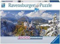 Puzzle Ravensburger 2000 - Zamek Neuschwanstein Panorama, Neuschwanstein Castle