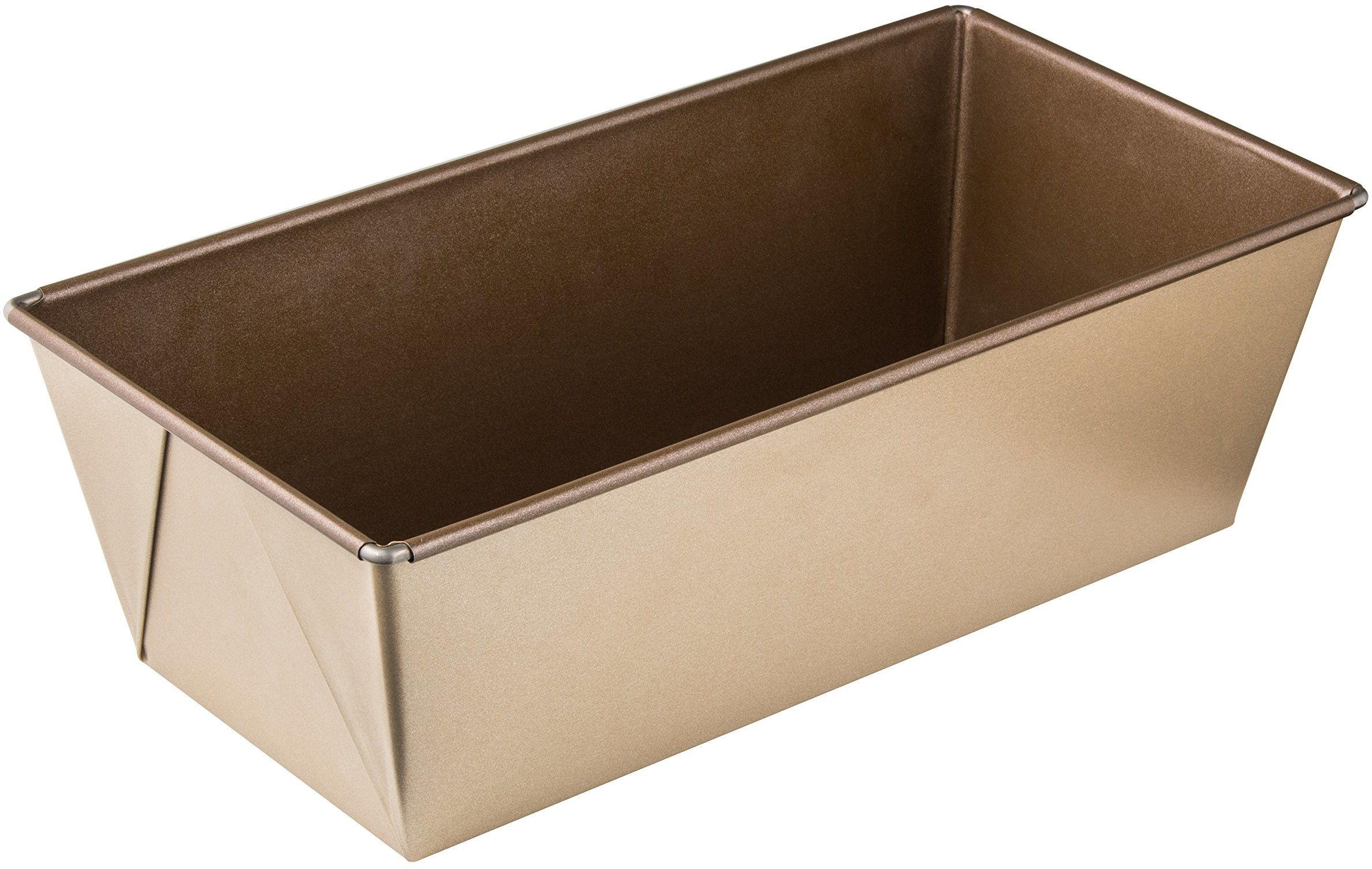 Zenker MOJAVE GOLD forma do pieczenia chleba 30 cm, forma do pieczenia z blachy stalowej, forma do chleba z ceramiczną powłoką zapobiegającą przywieraniu (kolor: mahoń/złoty), ilość: 1 sztuka