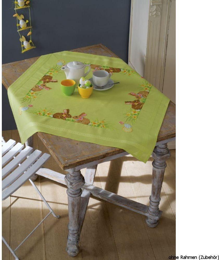 Vervaco Obrus: Zajączki wielkanocne, bawełna poliestrowa, sortowany, 40 x 2 x 20 cm