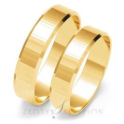 Obrączki ślubne Złoty Skorpion  wzór Au-O102