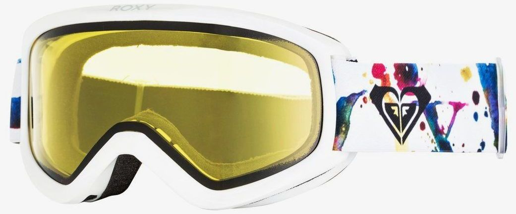 okulary snowboardowe damskie ROXY DAY DREAM BAD WEATHER Bright White Magic Carpet - WBN2
