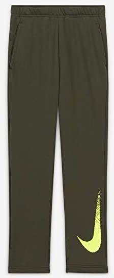 Nike Unisex dziecięce spodnie do joggingu Dry Flc Gfx 3 brązowy Cargo Khaki/Volt XS