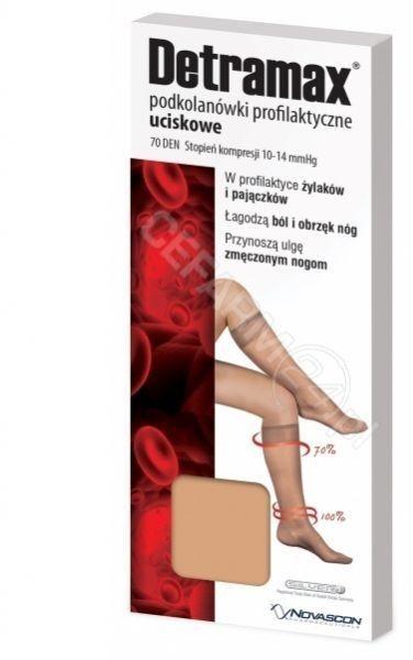 Detramax podkolanówki profilaktyczne uciskowe rozmiar 35-38 beżowe 1 para