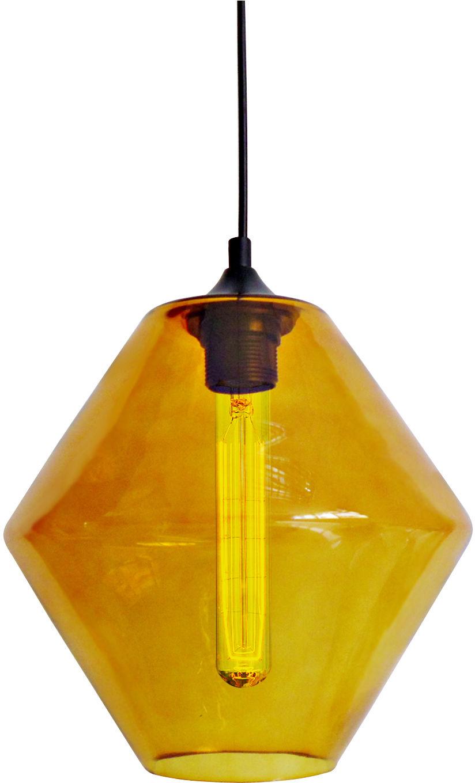 Candellux BREMEN 31-36223 lampa wisząca szklany klosz barwiony w kolorze pomarańczowym 1X60W E27 23 cm