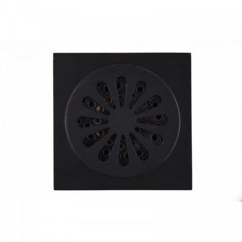 Czarna kratka odpływowa 10x10cm ,MANDAL