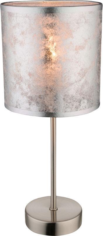 Globo AMY I 15188T lampa stołowa srebrna 1xE14 40W 15cm