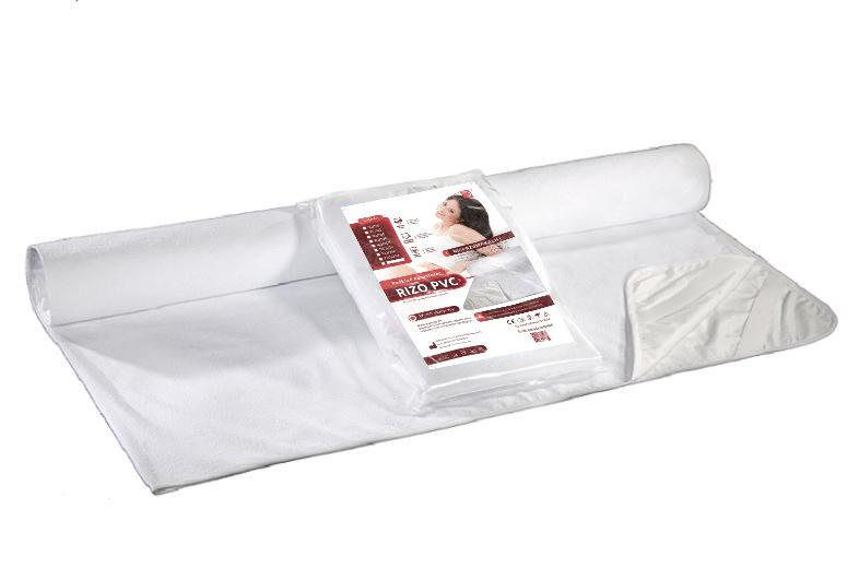 Podkład na materac 80x200 Rizo nieprzemakalny z ceratą biały AMW