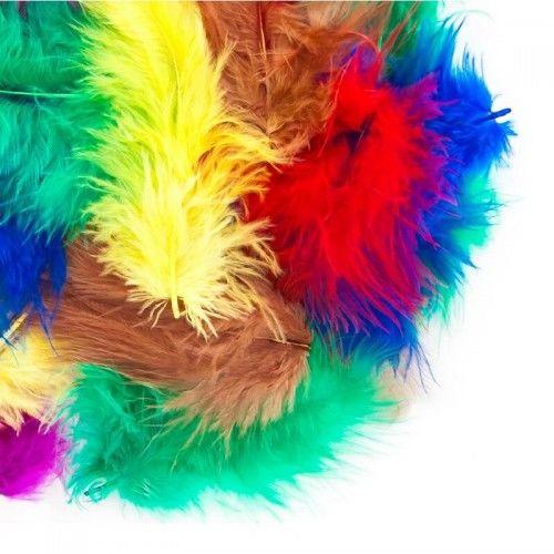Piórka do dekoracji, wypełnienia balonów 5-12 cm, mix kolorystyczny
