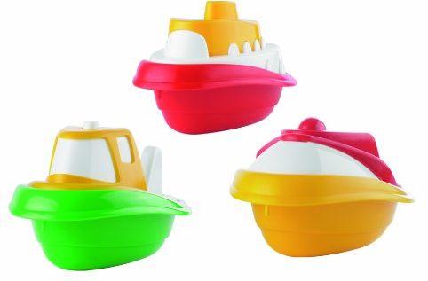 Ecoiffier 174 zabawki do kąpieli zestaw 3 łodzi różne